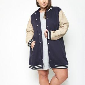 Longline Varsity Jacket